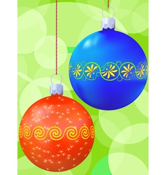 new years balls vector image vector image