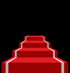 red carpet stage isolated vip ladder in dark vector image vector image