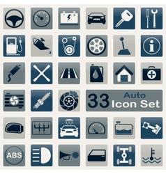Auto icon set vector image