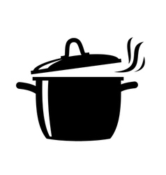 Cooking pan icon vector image vector image