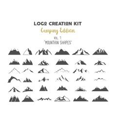 Logo creation kit bundle camping edition set vector