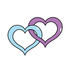 Nice heart symbol to love and passion vector