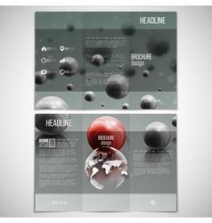 set of tri-fold brochure design template on vector image