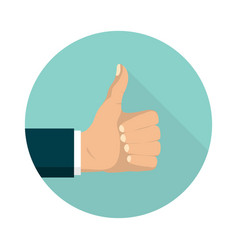 thumb up symbol set flat style like sign vector image
