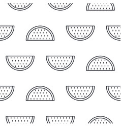 watermelon line icon seamless pattern vector image vector image