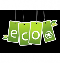 eco green tags vector image