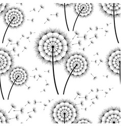 seamless background with dandelion vector image