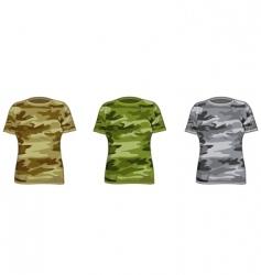 women military shirts vector image
