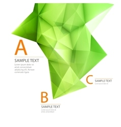 Abstract 3d green triangle backgrond vector image