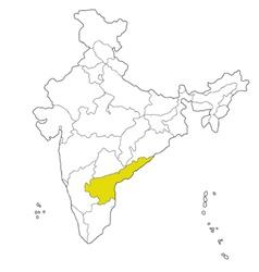 andhra pradesh vector image