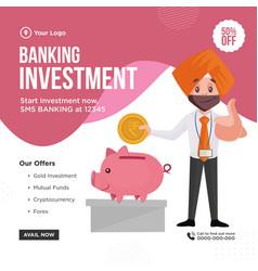 banner design banking investment vector image