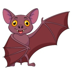 Bat cartoon waving vector