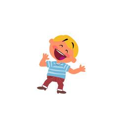 Cartoon character boy cheerful vector
