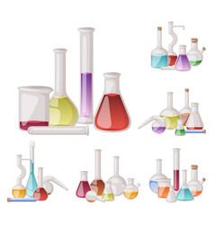 Chemical flask laboratory lab glassware vector