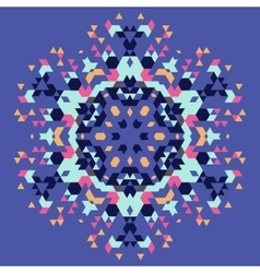 Circular geometric background vector