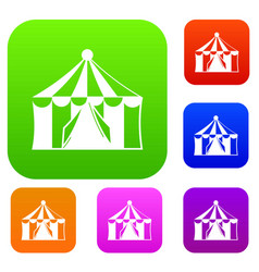 circus tent set collection vector image
