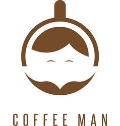 Concept with cup of coffee and mustache vector