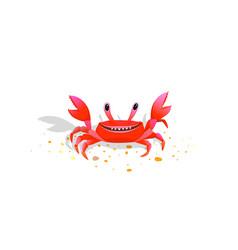 crab bacharacter friendly childlike kids comic vector image