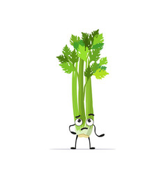 Cute celery character cartoon mascot vegetable vector