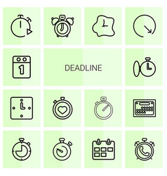 Deadline icons vector