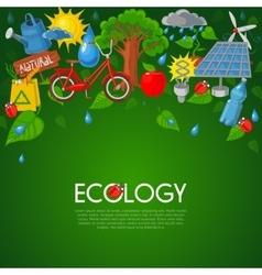Ecology flat vector image