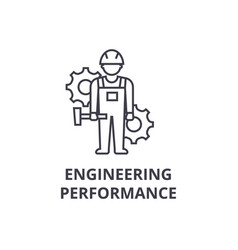 Engineering performance line icon sign vector
