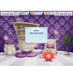 Example of a dialog box for computer games and web vector