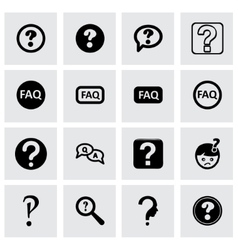 faq icon set vector image