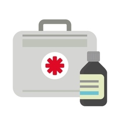 first aid kit box medical vector image