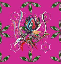 flat flower elements design colour spring theme vector image