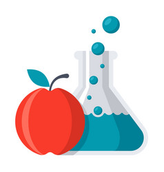food chemistry concept vector image