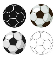 Football ball icon in cartoon style isolated on vector