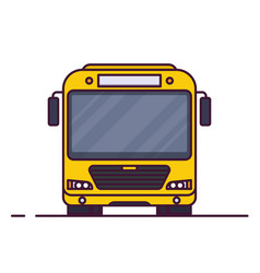 Front view of city bus vector