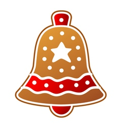 Gingerbread bell vector image