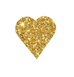 Gold glitter heart golden sparcle st vector