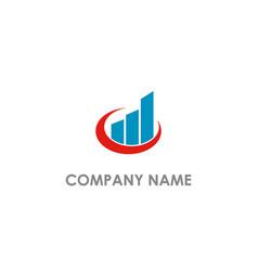 Graph economy business progress logo vector