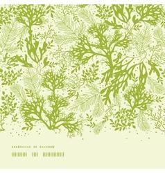 Green underwater seaweed horizontal seamless vector