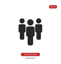 Group icon people sign vector