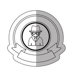 Hacker of security system design vector