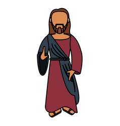 jesus christ catholic sac image vector image
