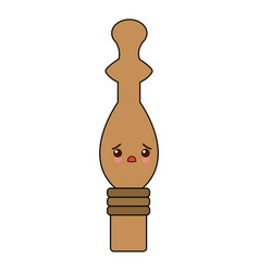 kawaii pepper mill condiment cooking vector image