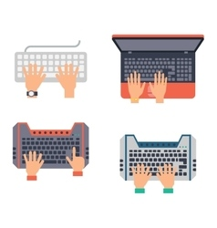 Keyboard hands set vector