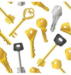 keys pattern - seamless modern material design vector image