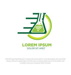 Laboratory logo designs vector