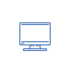 led tv line icon concept led tv flat vector image