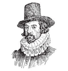 Lord francis bacon vintage vector