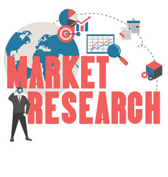 Market research concept market research concept vector