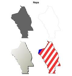 Napa county california outline map set vector