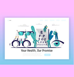 ophthalmologist doctor test eyesight landing page vector image