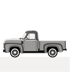 pickup flat styleprofile vector image
